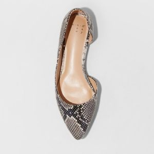 NWT A New Day snake print flat